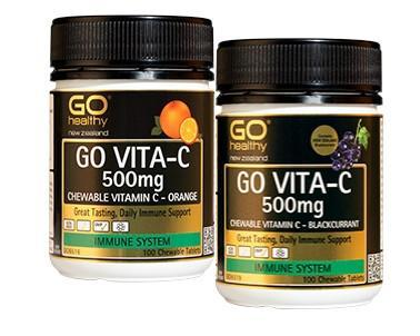 Go Healthy Go Vita-C 500mg 100 Chewable Tablets