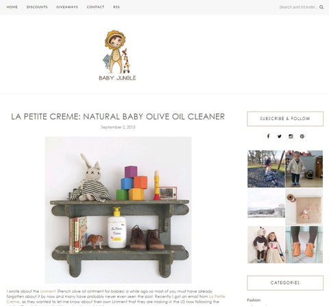 Baby Jungle - La Petite Creme - Review Natural Baby Oil Cleaner