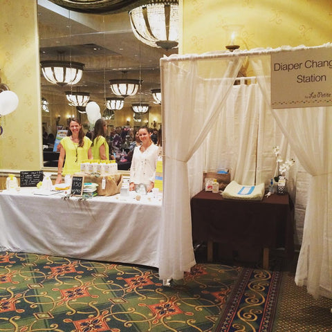 La Petite Creme booth at West Palm Beach Baby Shower