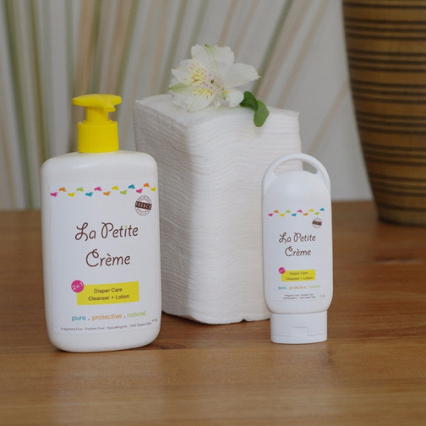 Baby wipes alternative. La Petite Creme. Baby lotion. Diapering cream. Gift set.