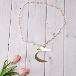 Aral Arabic Letter Necklace ح