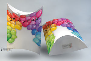 ظرف هدايا Pillow box gift packaging