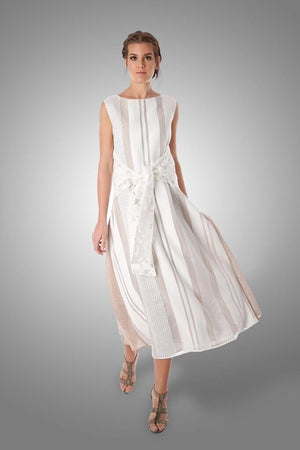 off white 2 way swing dress