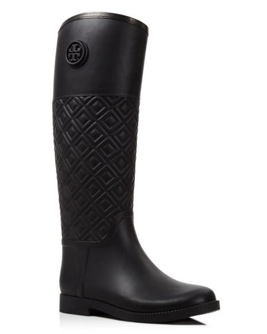 0afd0f8fac4a TORY BURCH MARION QUILTED RAINBOOT (PERFECT BLACK)
