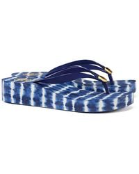 ab73d31e0 ... TORY BURCH CLASSIC WEDGE FLIP FLOP (Navy Sea   Ziggy)