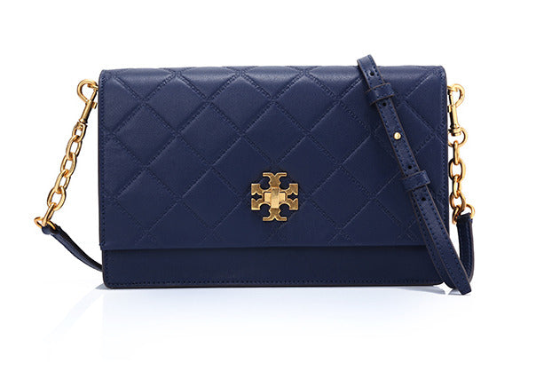 6357929184da Tory Burch GEORGIA TURN-LOCK MINI BAG (ROYAL NAVY) ...