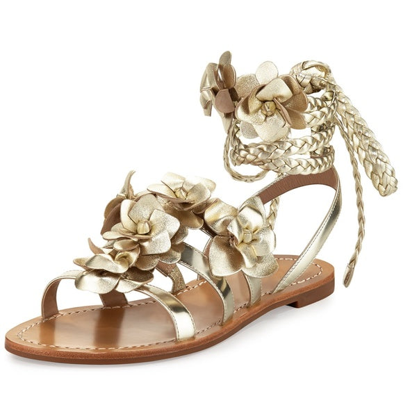d67693693a2 TORY BURCH BLOSSOM GLADIATOR SANDAL (Spark Gold) ...