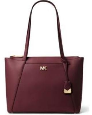 a890b95a1b6d MICHAEL KORS Maddie Medium East West Leather Tote- Oxblood-30S8GN2T2L