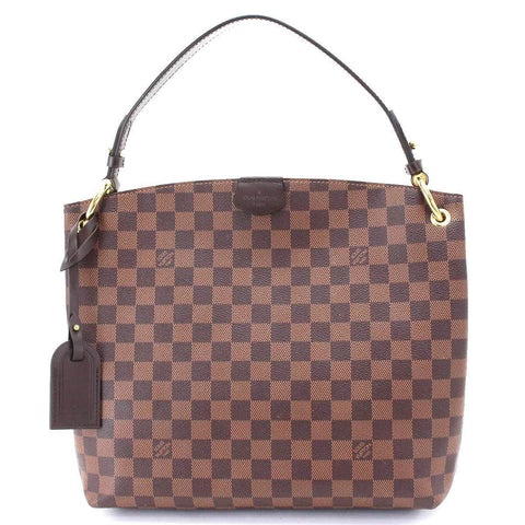 d2f45574bc9c LOUIS VUITTON Damier Graceful PM Shoulder Bag Canvas Ebene