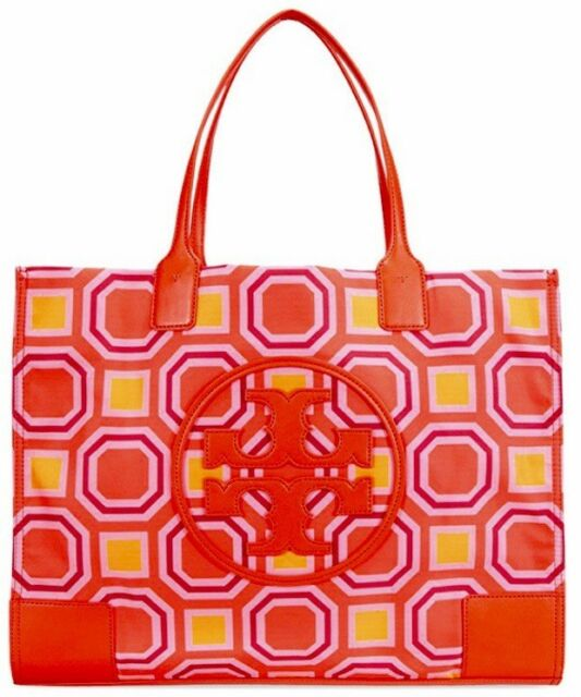 143be227244 Tory Burch ELLA PRINTED TOTE (BALLET PINK OCTAGON SQUARE) ...