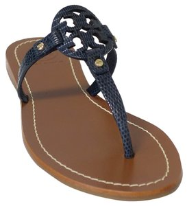 0b2cdb233 TORY BURCH MINI MILLER FLAT THONG -VEG LEATHER (BRIGHT NAVY) ...