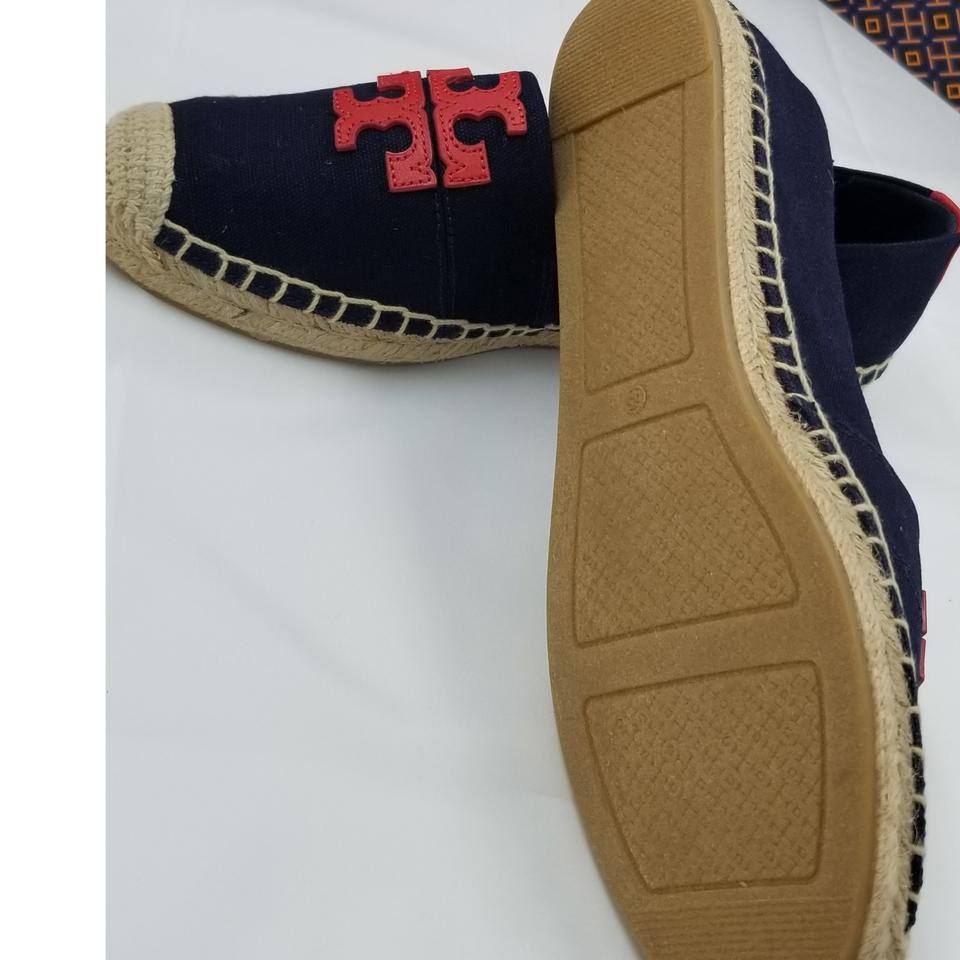 b87a9a77e2fc ... TORY BURCH WESTON FLAT ESPADRILLE (Perfect Navy-Perfect Navy   Nautical  Red)