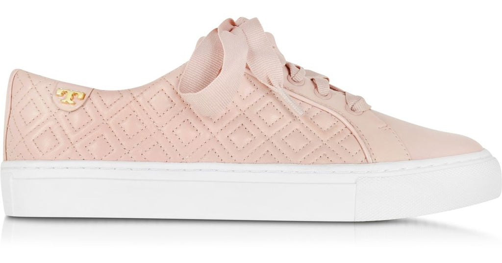 c7baa0a4d511 TORY BURCH MARION QUILTED LACE-UP SNEAKER (SACHET PINK) ...
