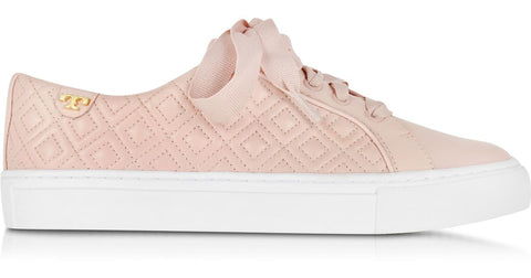 38f52346a63a TORY BURCH MARION QUILTED LACE-UP SNEAKER (SACHET PINK)