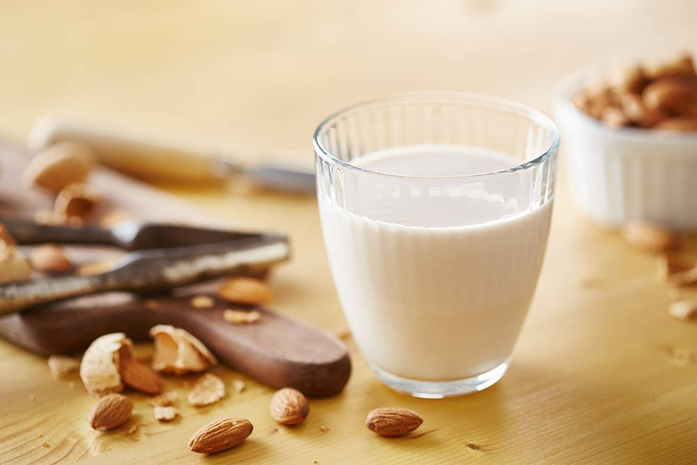 Make almond milk with your slow juicer.