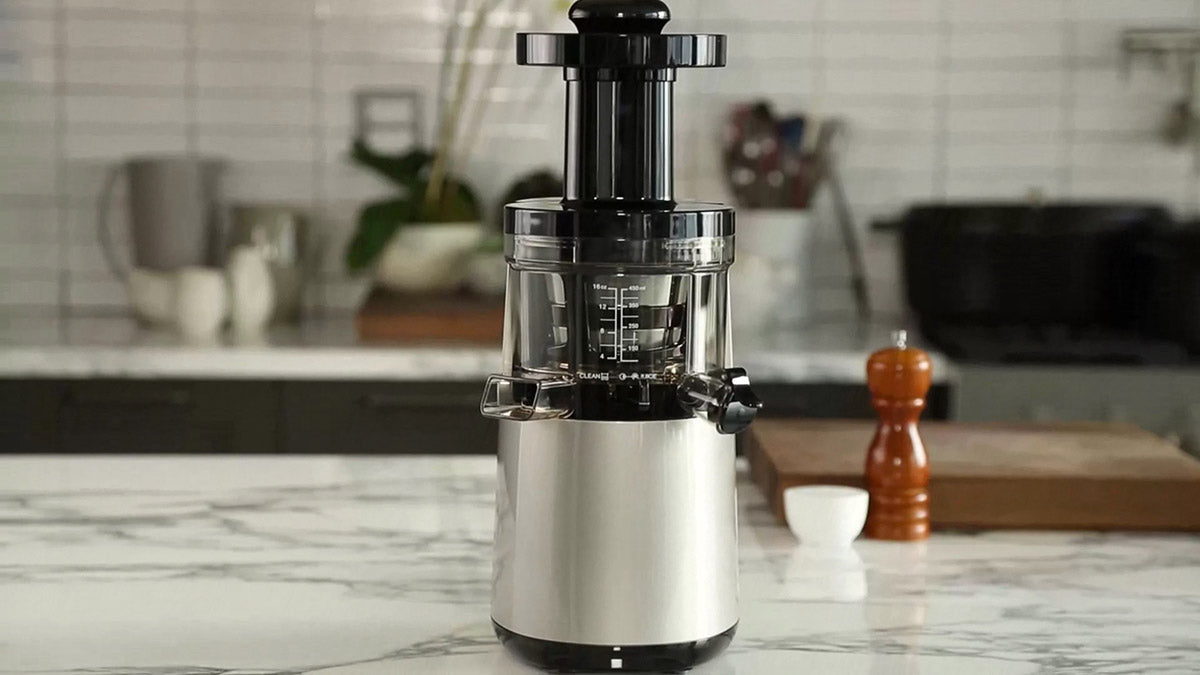 Hurom Juicer on a kitchen counter