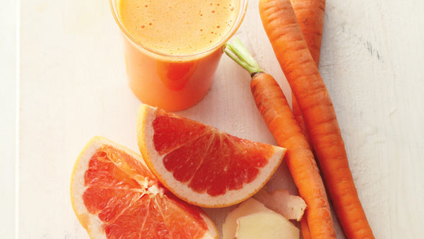 grapefruit, carrot, ginger juice - energizing juice recipes