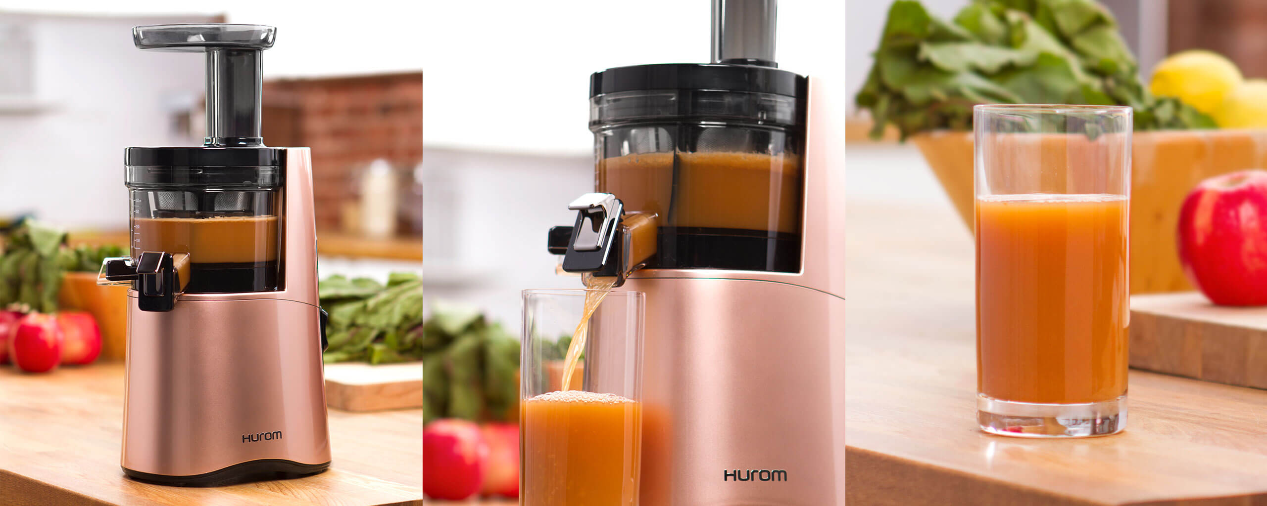 Hurom H Aa Slow Juicer Rose Gold : H-AA Slow Juicer Hurom