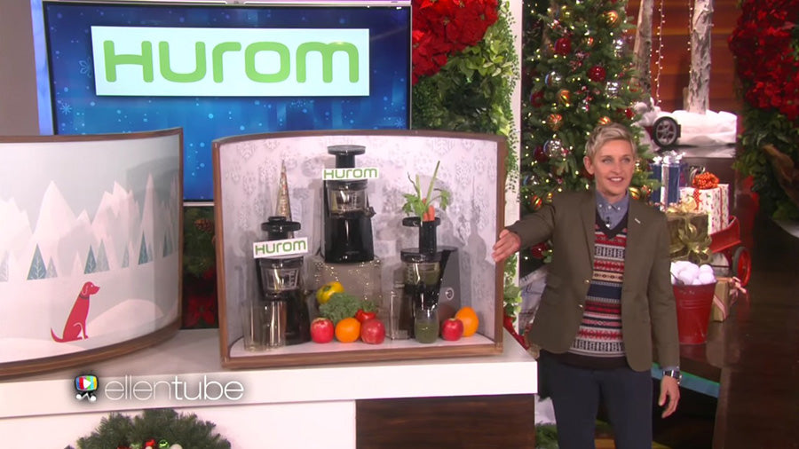 Hurom Juicers featured on Ellen Degeneres Show