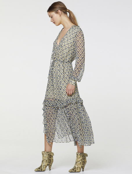 BEAMING LS MIDI DRESS