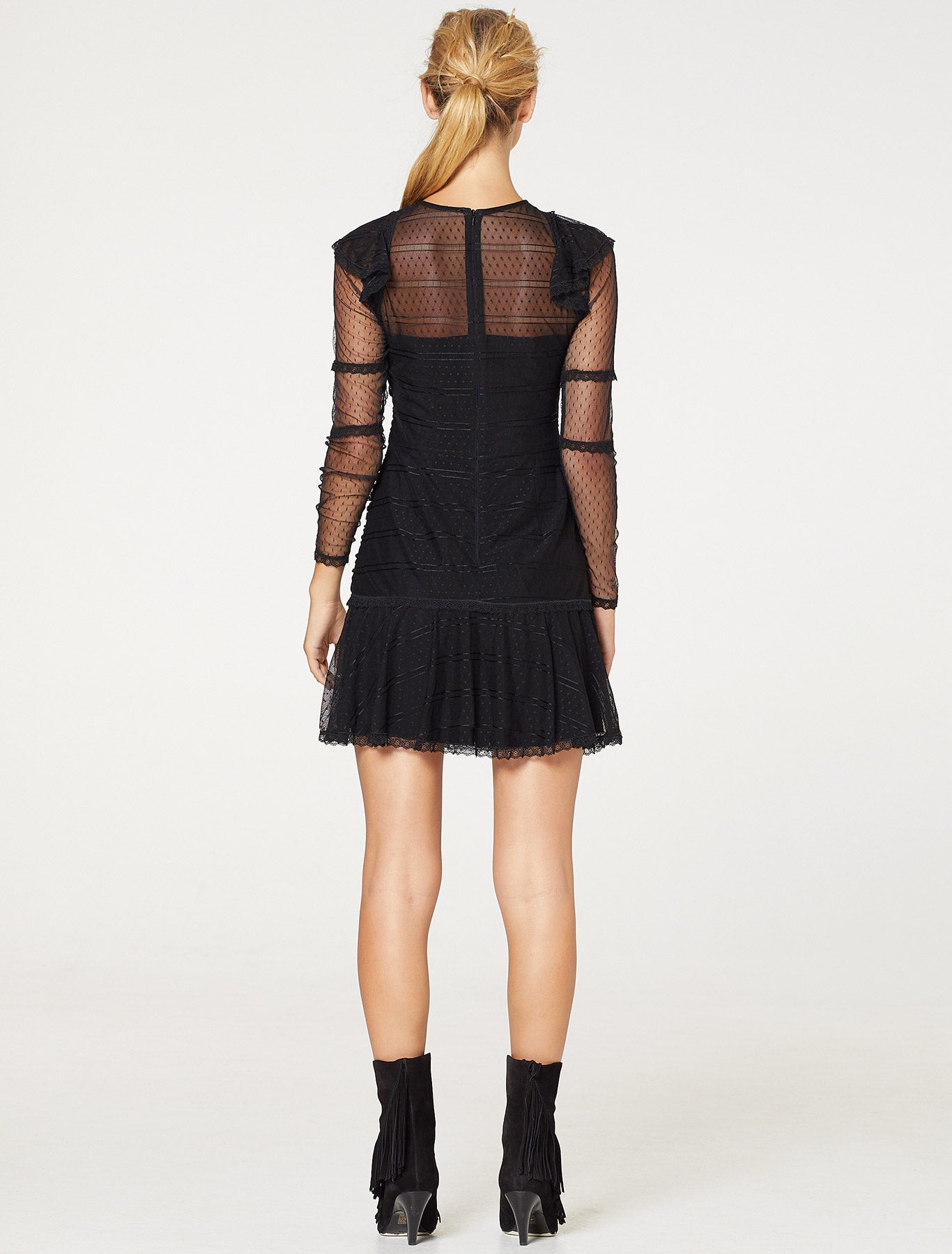 SHEER GLORY MINI DRESS