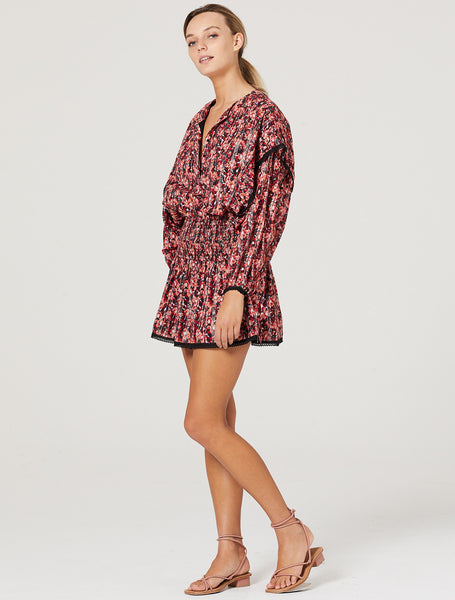 WITHOUT A BLUSH L/S MINI DRESS