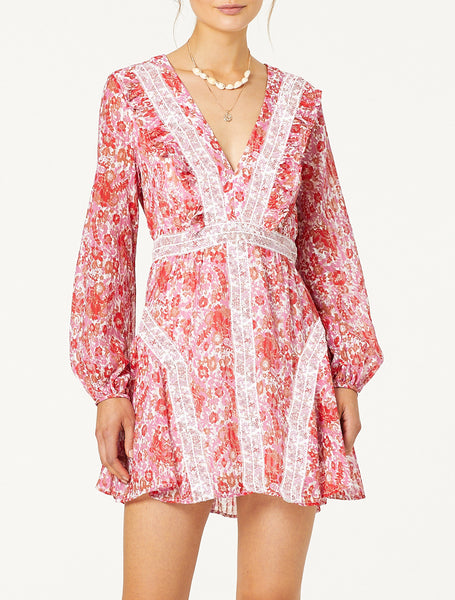 CIRCLES L/S MINI DRESS