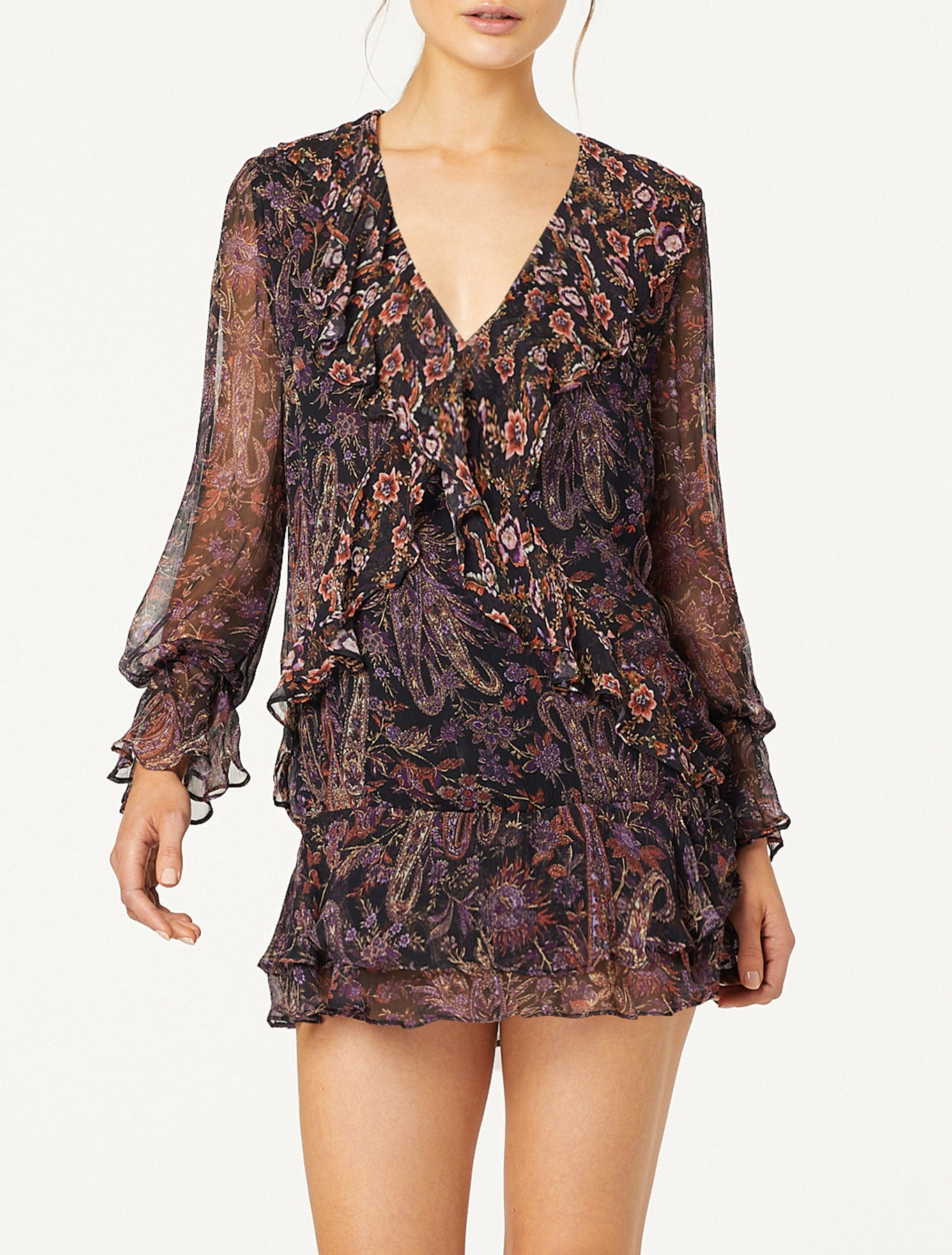 COSMIC LOVE L/S MINI DRESS