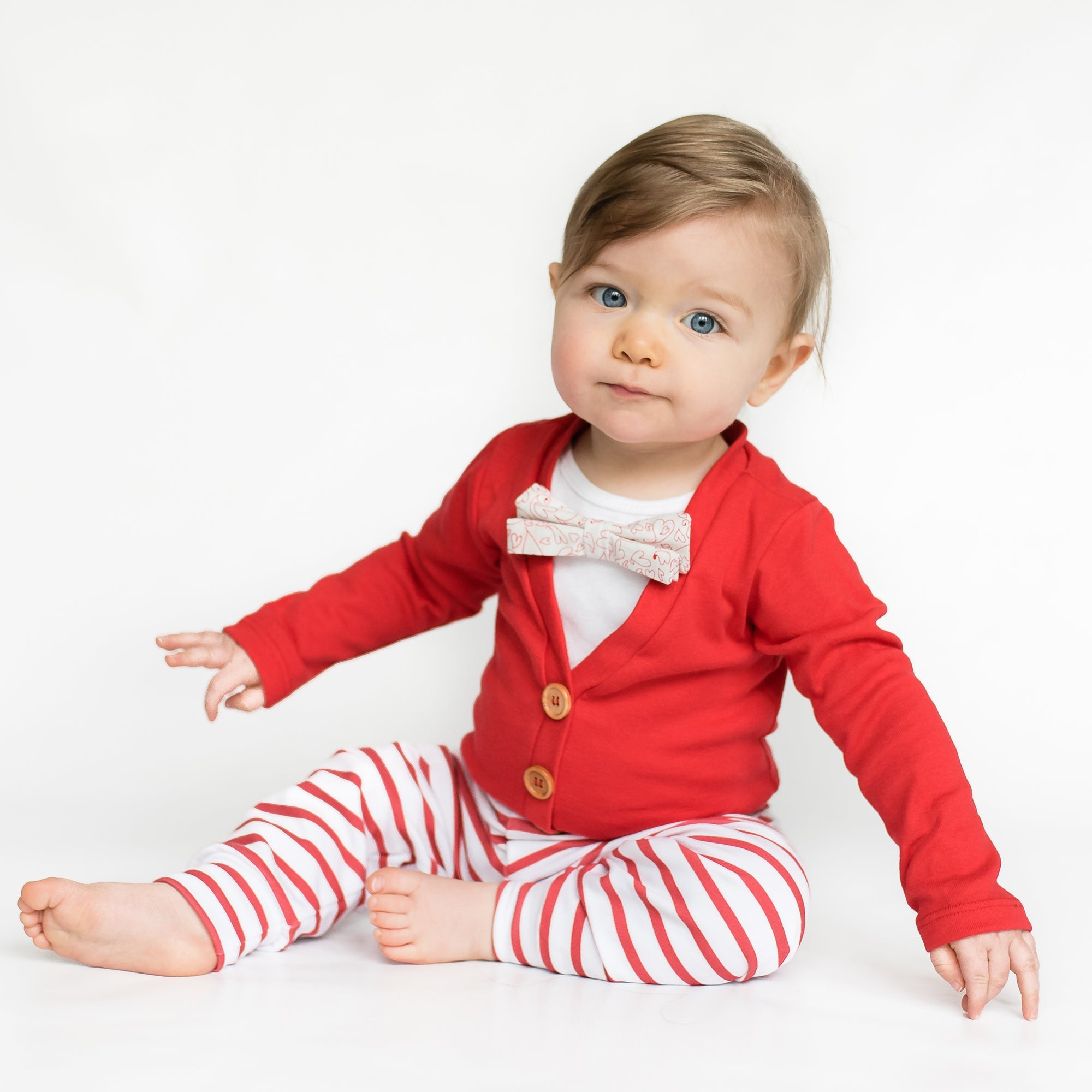 Baby Boy Valentine's Day Outfits: 7 Cardigan Onesie Ideas