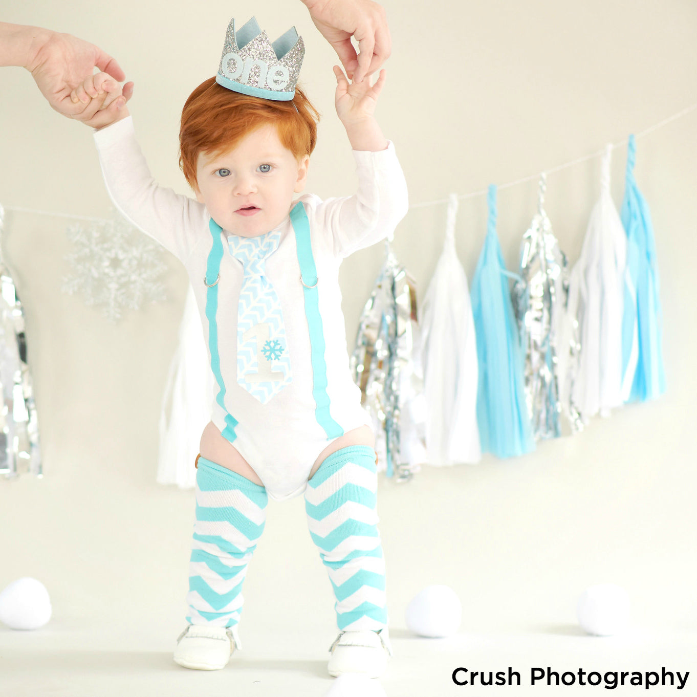 Baby Boy Cake Smash Ideas: Winter Onederland