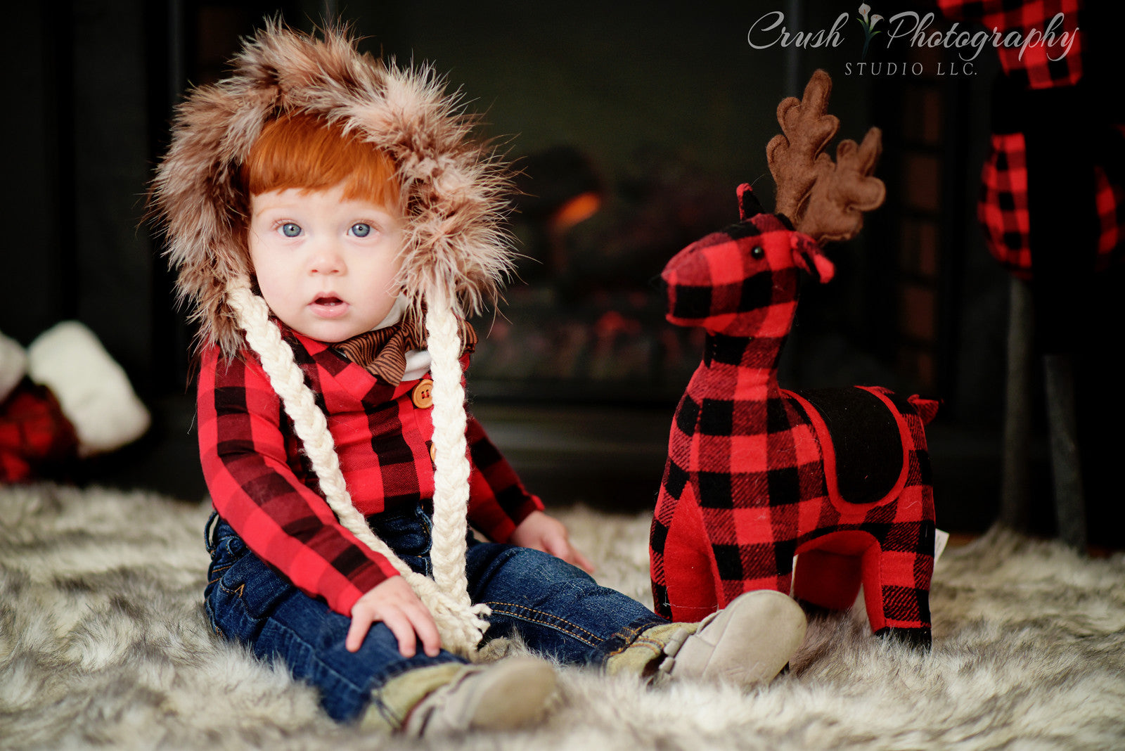 buffalo check plaid cardigan onesie