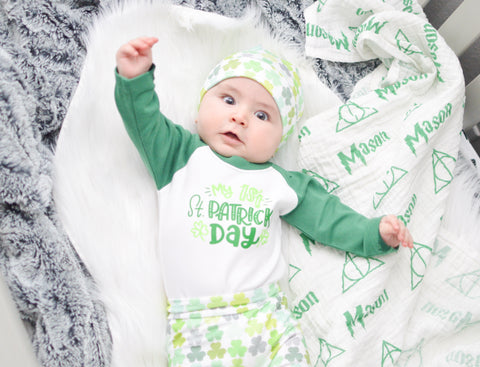Baby Boy St Paddys Day Outfit Boy first St Patricks outfit Baby Boy Clothes Baby Boy St Patricks outfit Baby Boy Outfit Baby Gift
