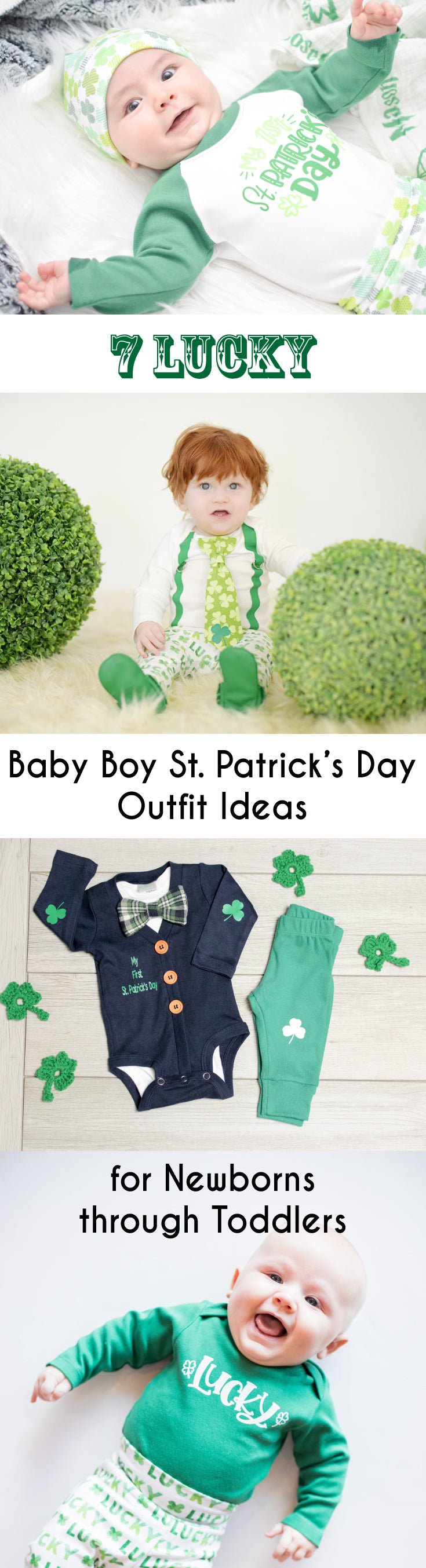 9dd3ee30a 7 Lucky Baby Boy St. Patrick's Day Outfit Ideas for Newborns through T