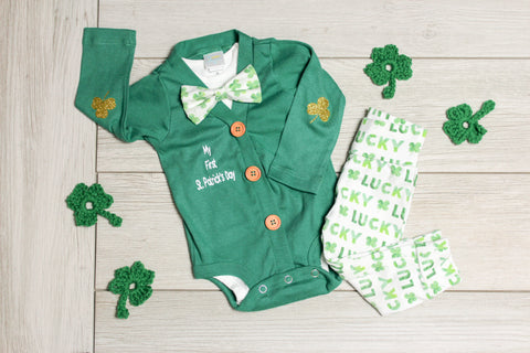 8c5e6c02 7 Lucky Baby Boy St. Patrick's Day Outfit Ideas for Newborns through T