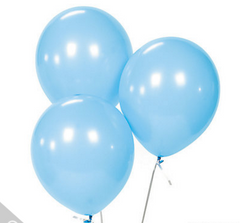 light blue balloons