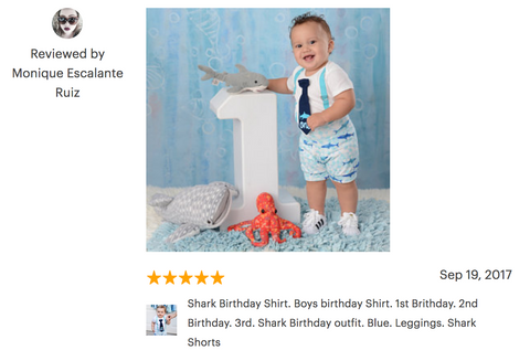 shark 1st birthday outfit review