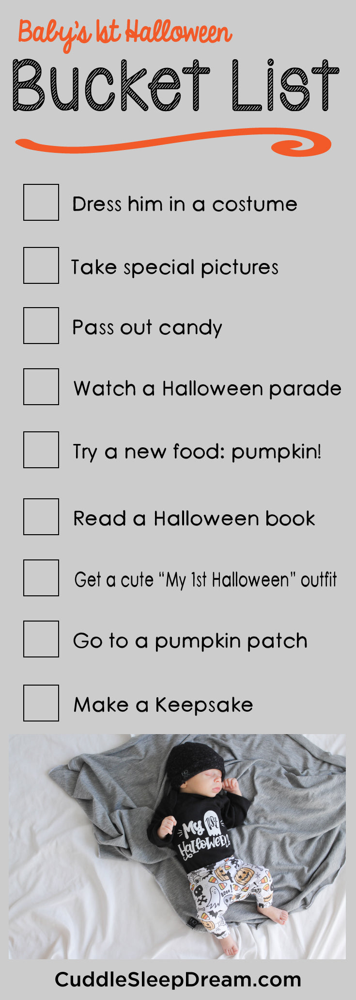 baby's 1st halloween bucket list ideas