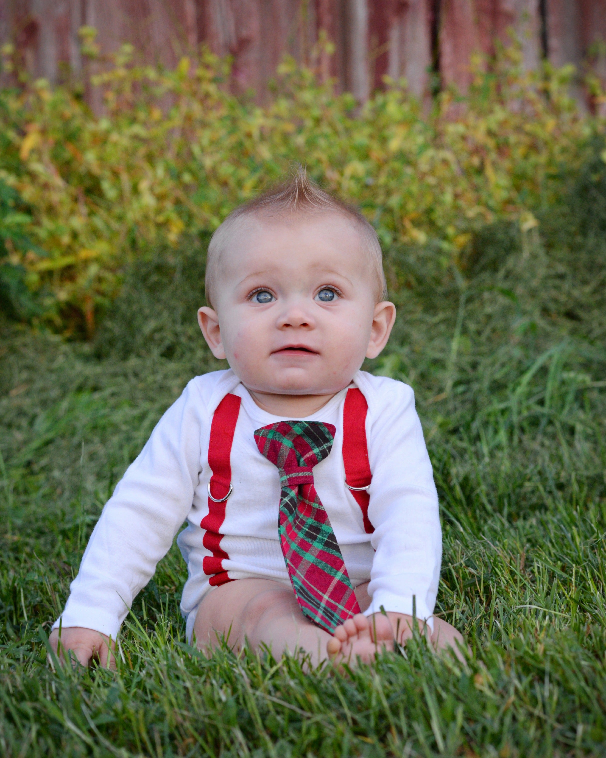 plaid christmas outfit for boys