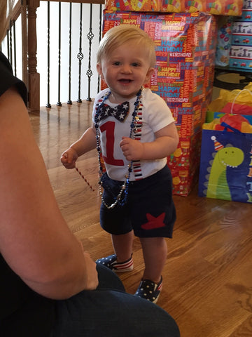 patriotic 1st birthday outfit boy