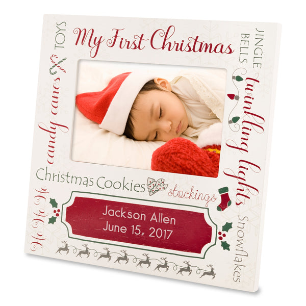 1st christmas picture frame