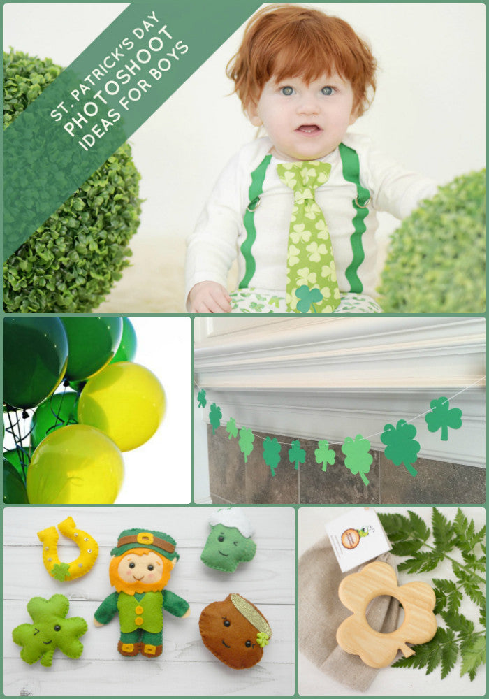 St Patrick's Day Photoshoot Ideas for Boys