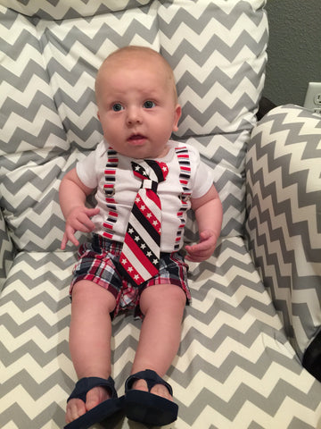 flag tie for baby