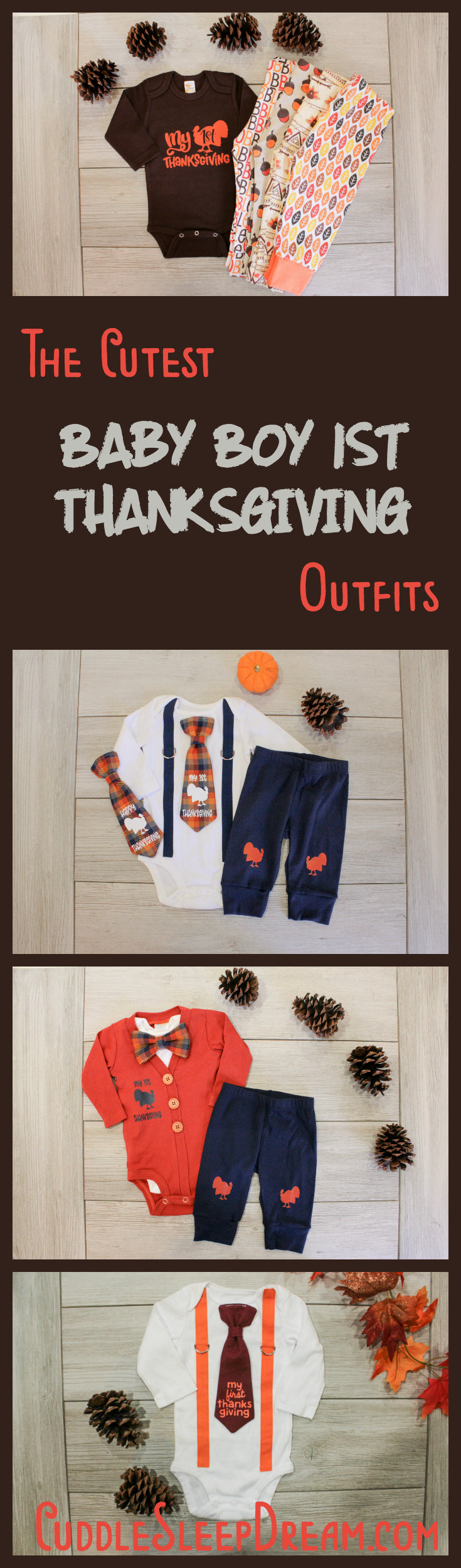 baby boy My 1st Thanksgiving Outfit ideas