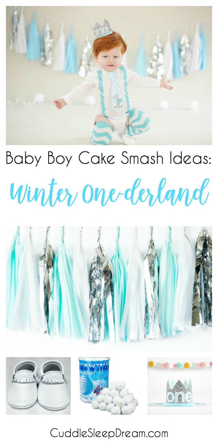 winter onederland cake smash ideas