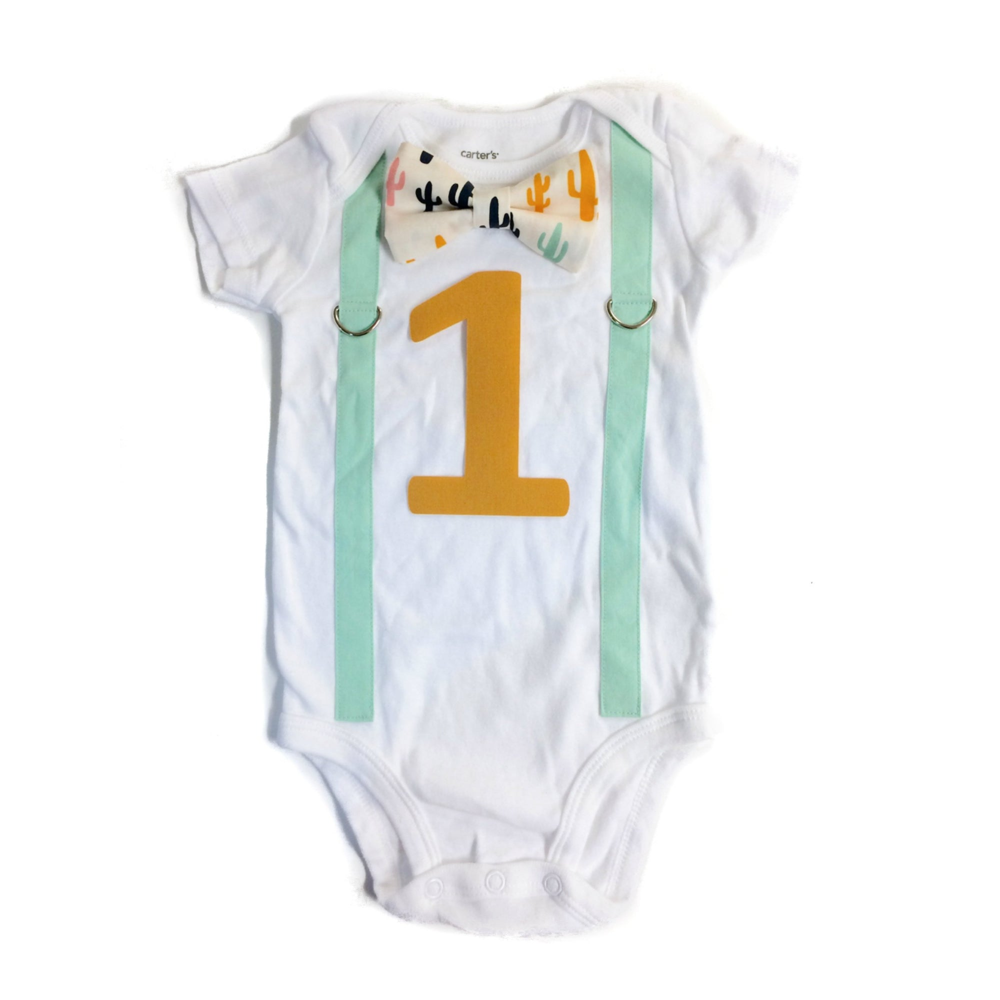 Cuddle Sleep Dream Oh Snap Cactus 1st Birthday Onesie