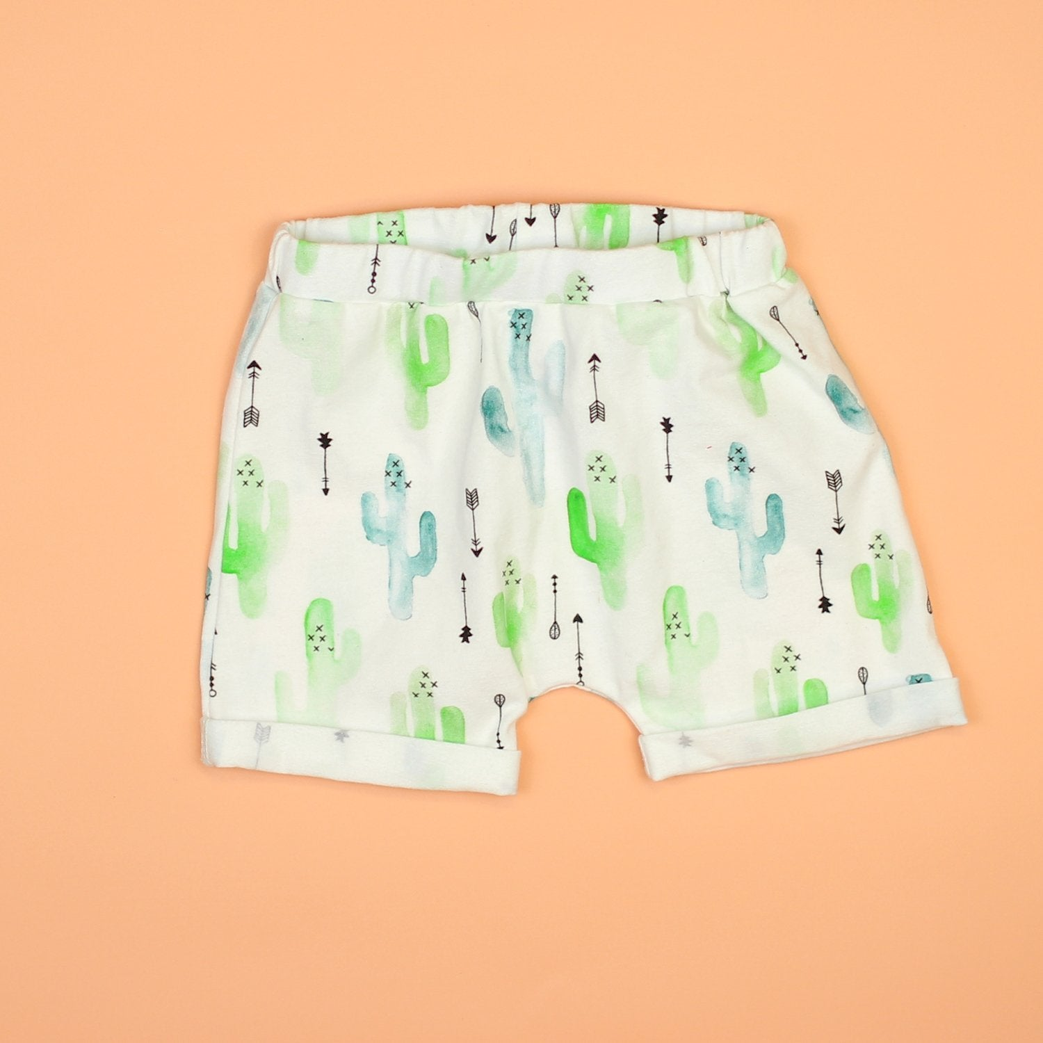 Cuddle Sleep Dream Cactus Rolled Hem Shorts