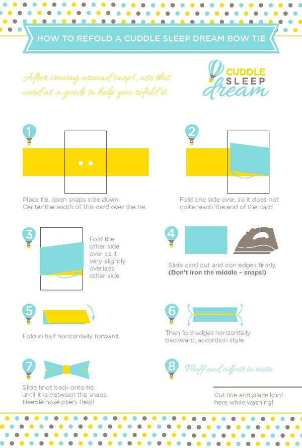 Cuddle Sleep Dream Bowtie Folding Instructions