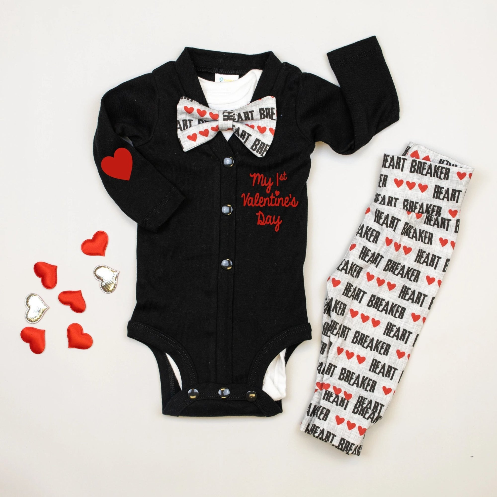 Cuddle Sleep Dream Cardisuit Bundle | Black Heartbreaker (ships in 1 week)