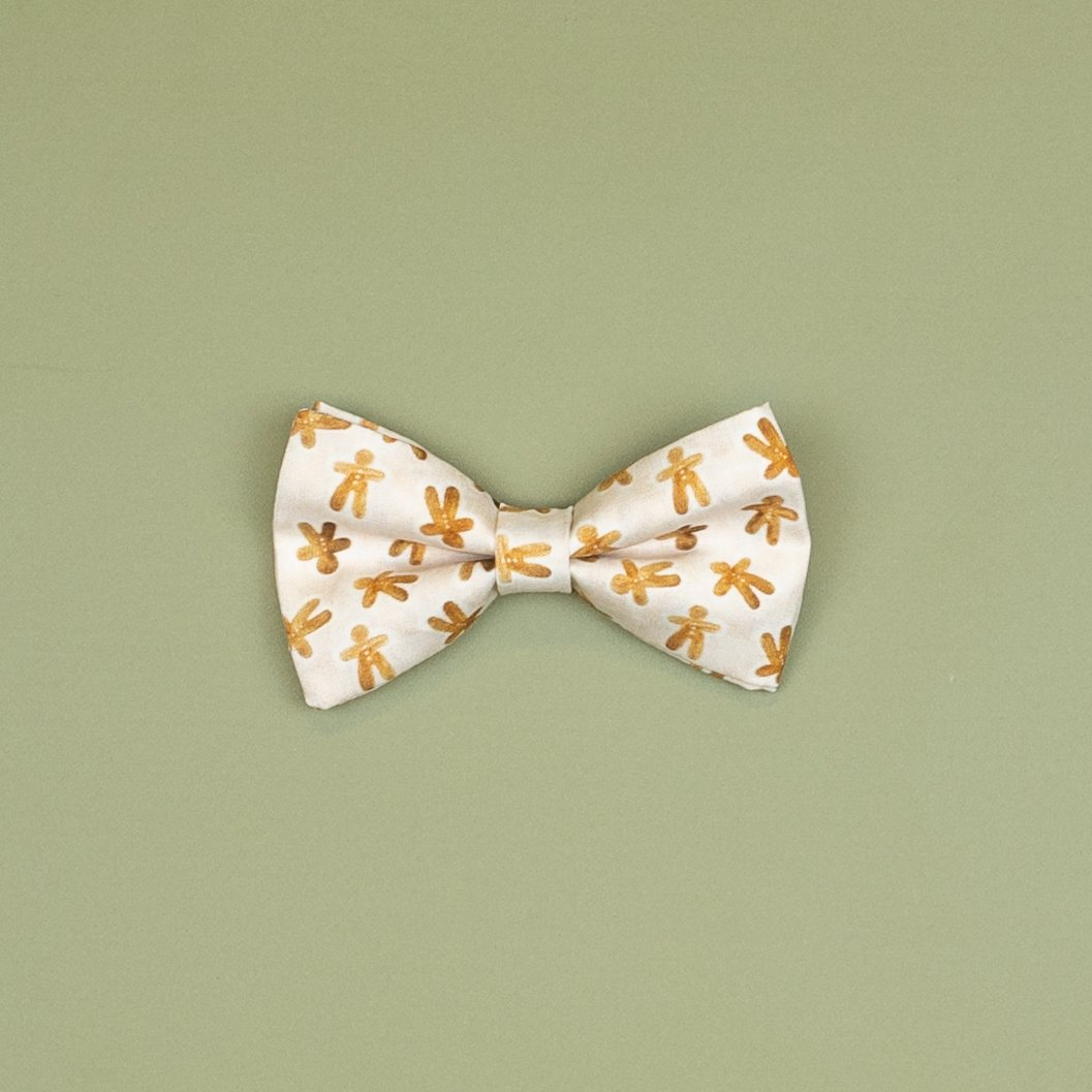 Cuddle Sleep Dream Ties Gingerbread Snap-On Bowtie