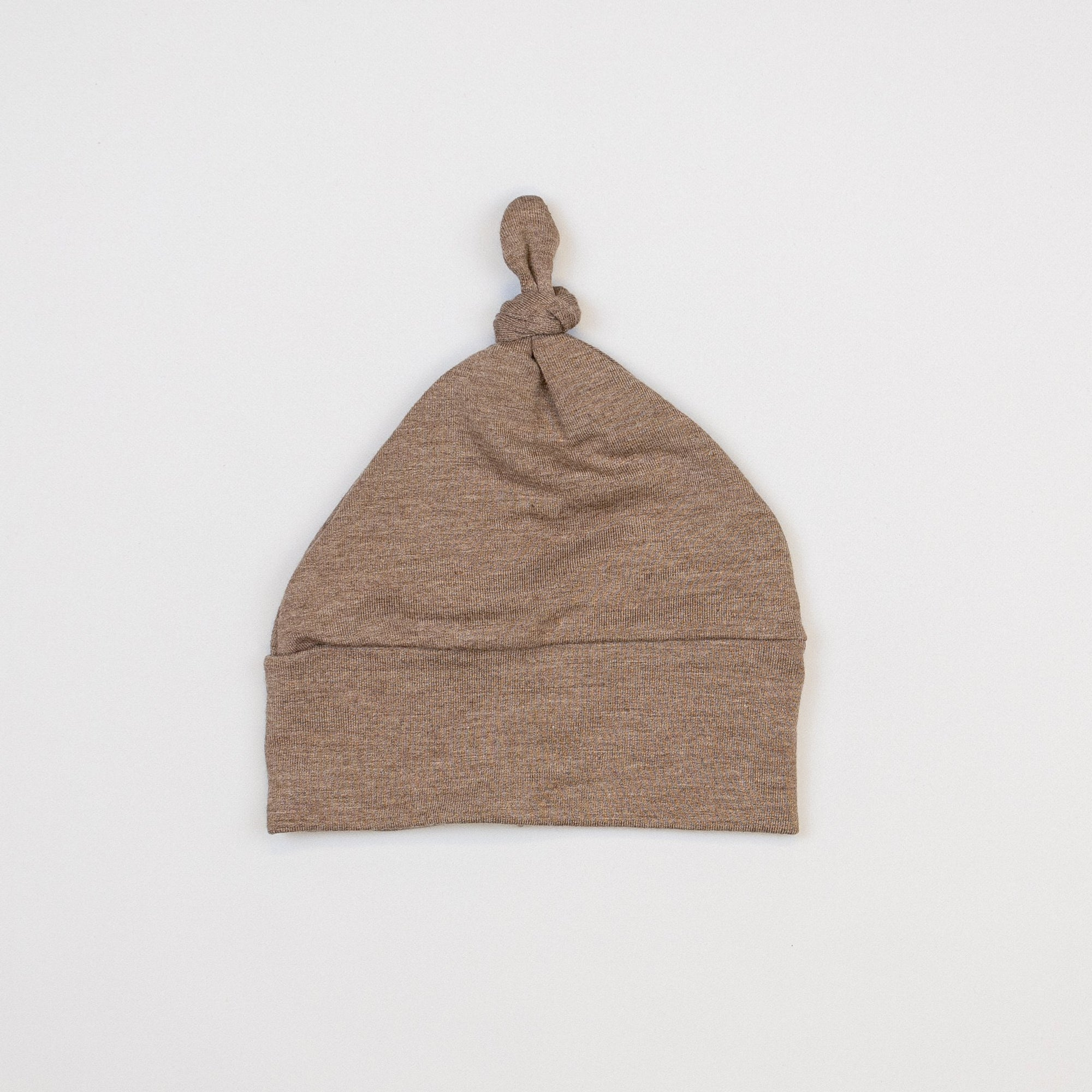Cuddle Sleep Dream Knot Hat Small (0-3m) Heathered Brown Knot Hat